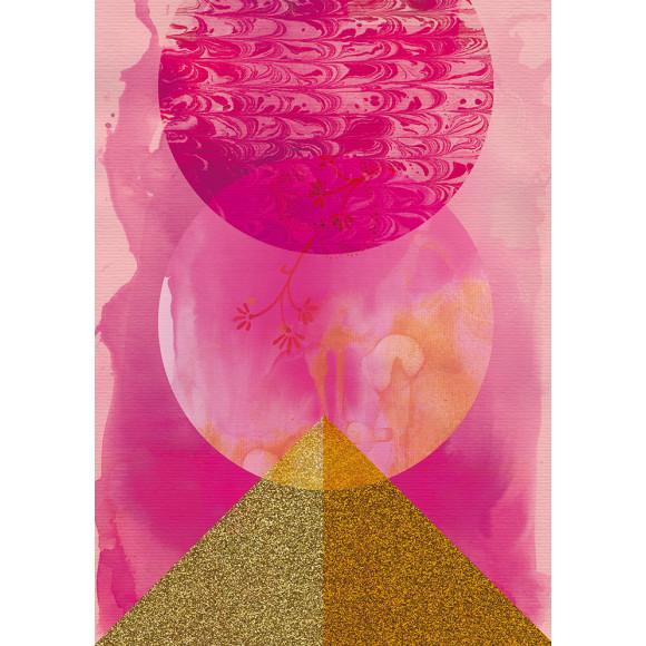 Golden pink print