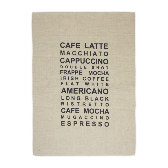 Essential Coffee Linen Tea Towel