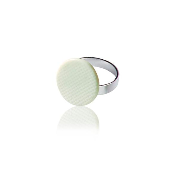 White Grid ring