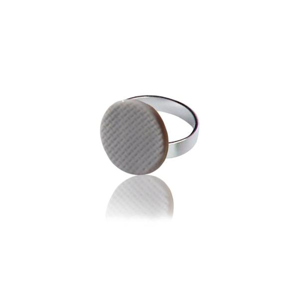 Grey Grid ring