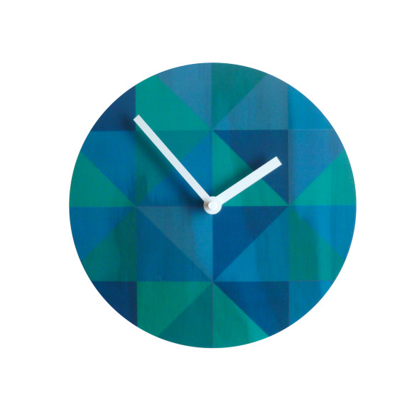 Grid teal clock