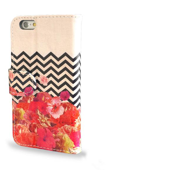 Chevron Flora II Smartphone Wallet Case