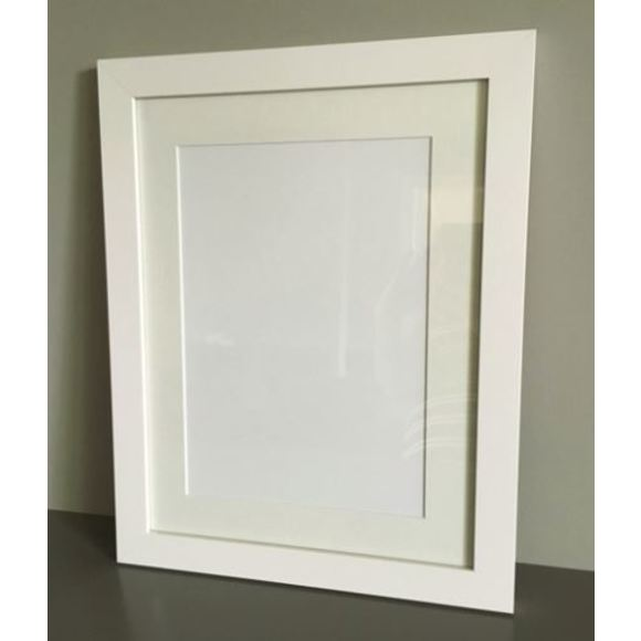 Frame Option - White and made by local framer for best quality.