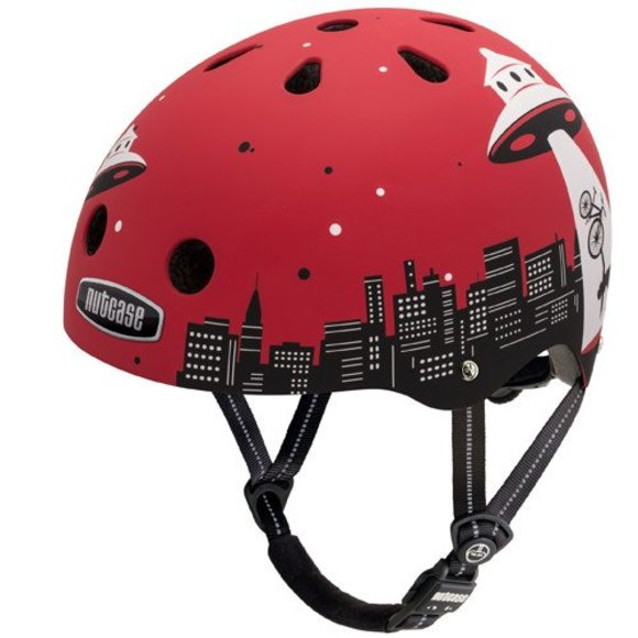 Street Helmet - Alien Abduction for bike and skate