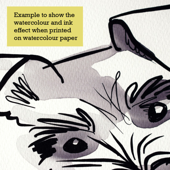 Paper and print texture example