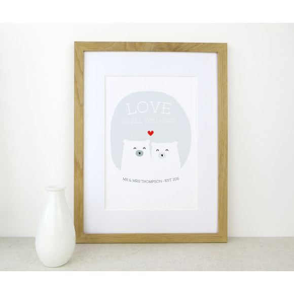 Bear Love Print (NB frame not included)