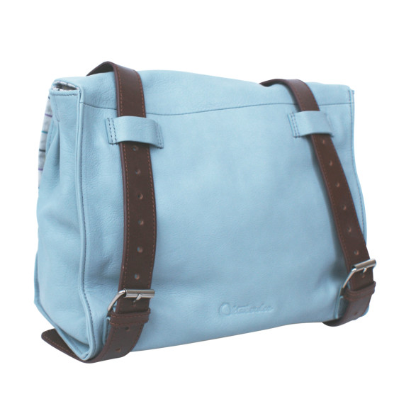 Back of bag (shown in blue)