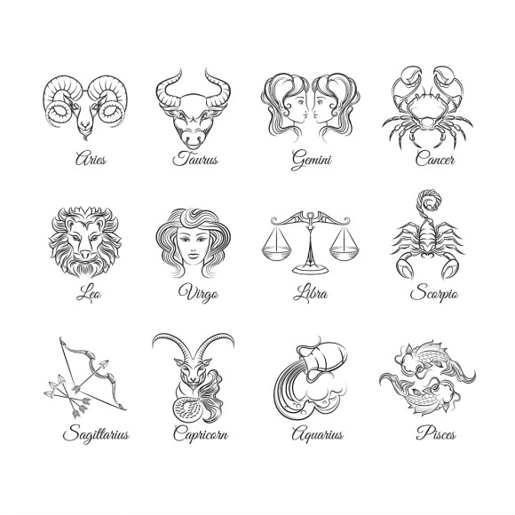 Zodiac signs - graphics