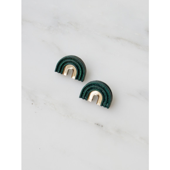 Arch Studs - Forest Green