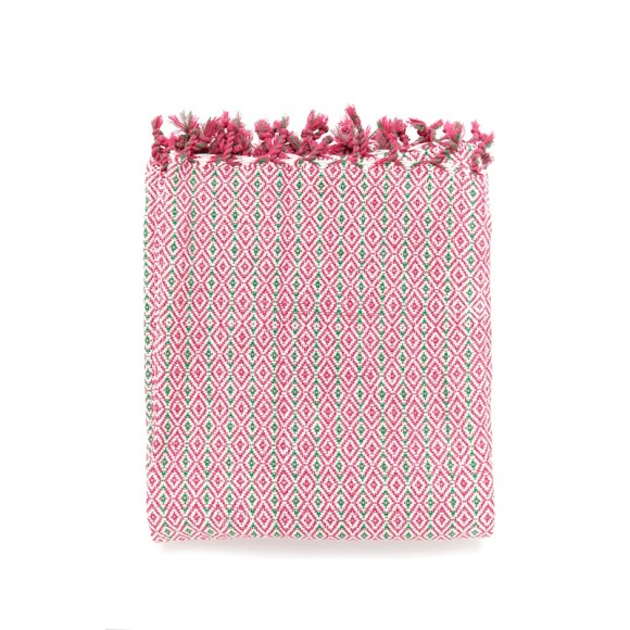 Geometric Throw Rose Pink