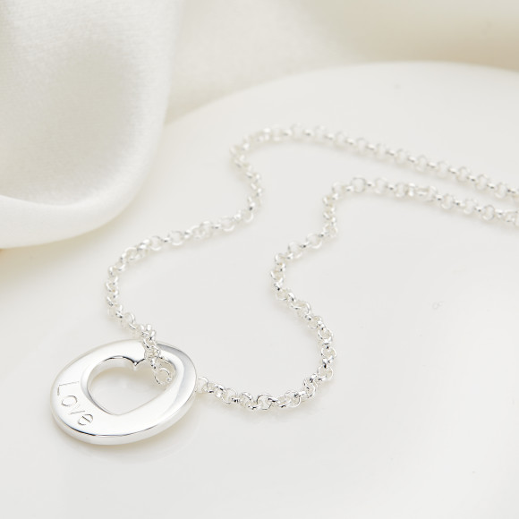 Hope Open Heart Necklace.