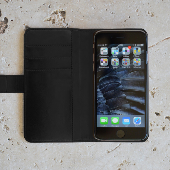 Balck Iphone Case and Wallet Interior