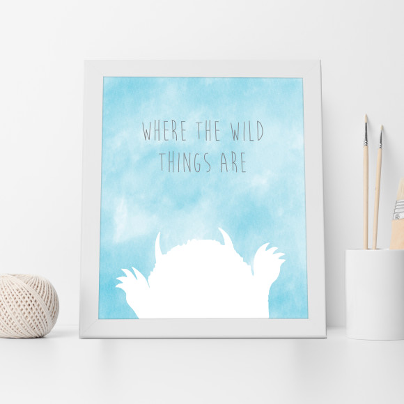 Where the Wild Things Are Print in Aqua
