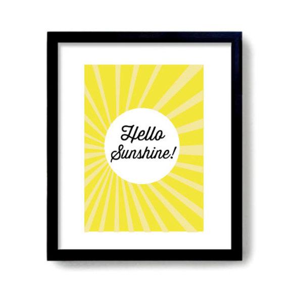 Sunshine print