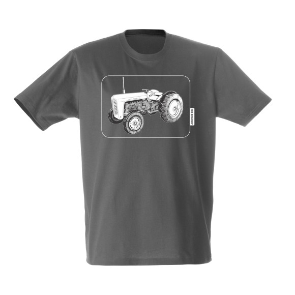 Tractor charcoal framed tee
