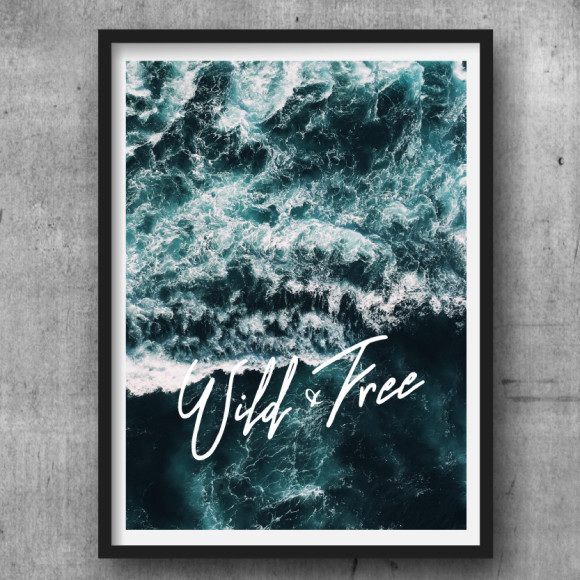 Wild and free ocean print