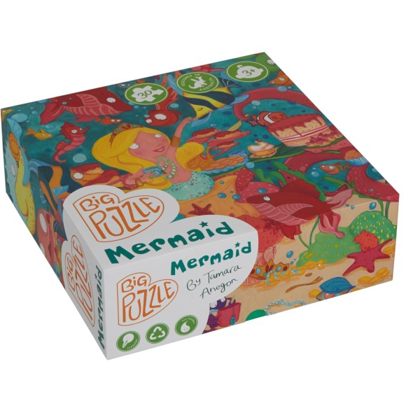 floor puzzle mermaid box