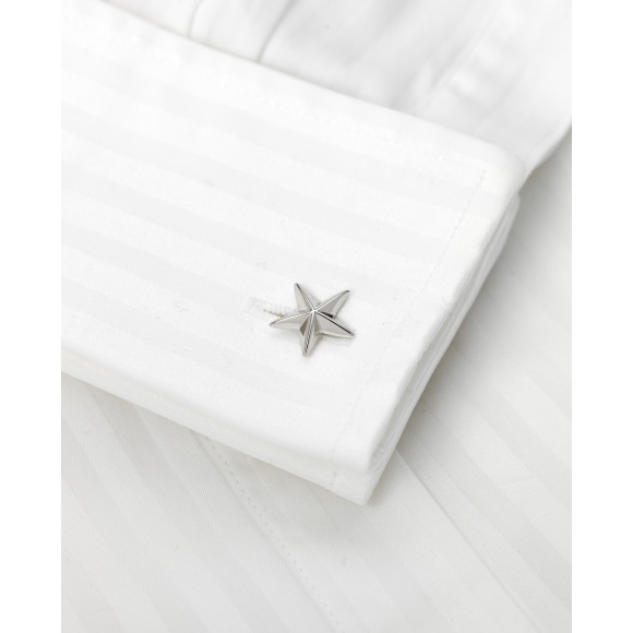 Eleanor - Sterling Silver Cufflinks on shirt