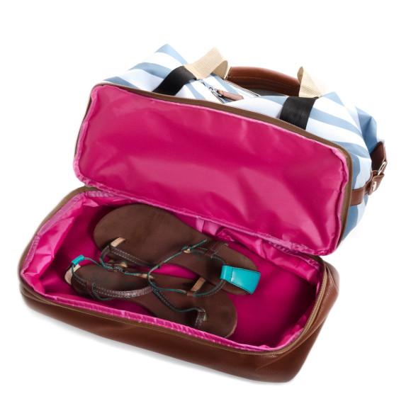 Stripes Weekender & Gym bag inside compartment