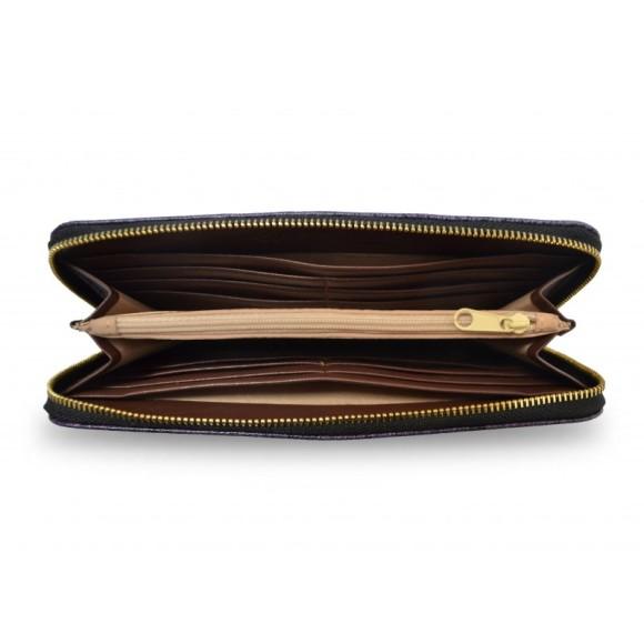 Zebra Love Vegan Leather Red Purse Wallet Inside