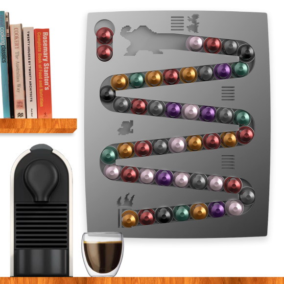 Capsulekong Nespresso Wall Mount Coffee Capsule Holder