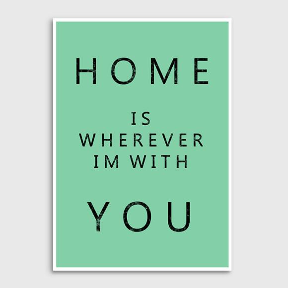 Home art print