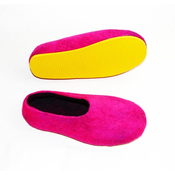 felted wool slipper