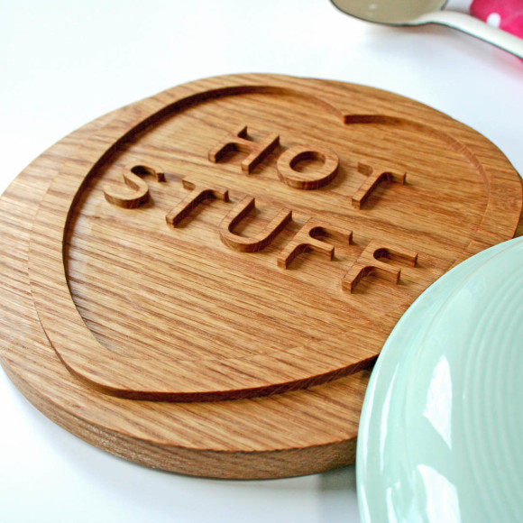 Solid oak trivet