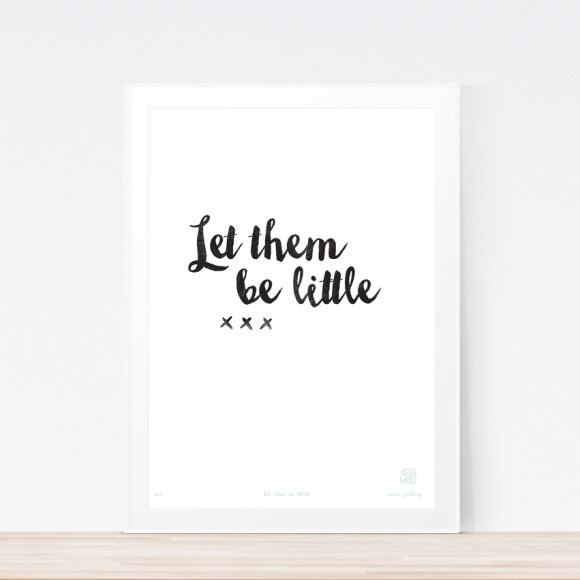 Let Them Be Little Art Print (Framed)