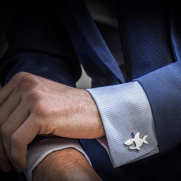 Sharks cufflinks handcrafted