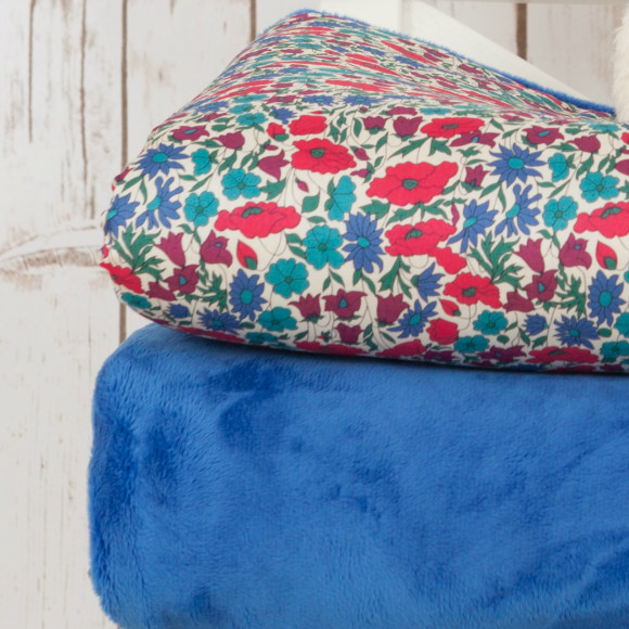 Plush minky floral blanket