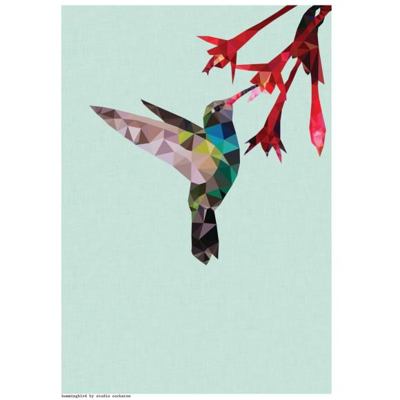 geometric hummingbird print hardtofind