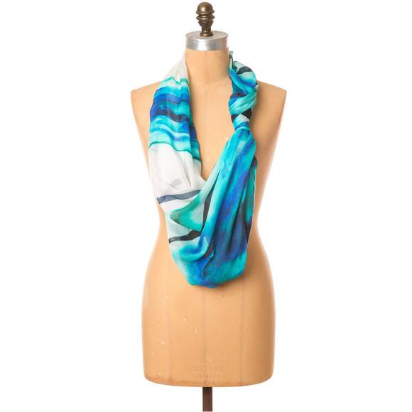 Ocean bloom scarf