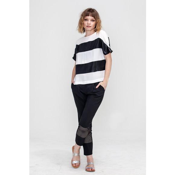 Stripe Black and White T Shirt