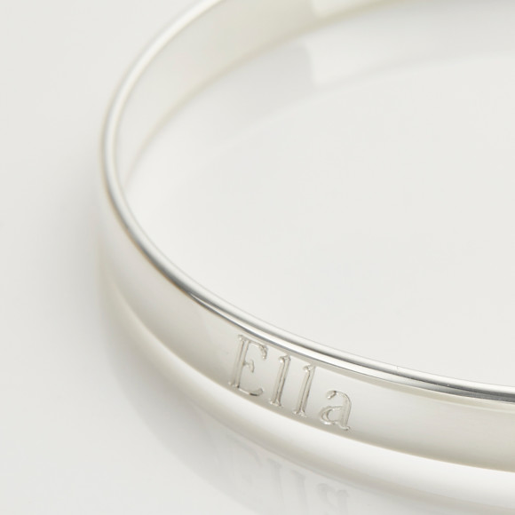 Personalised My First Diamond Christening Bangle