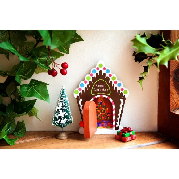 Opening christmas fairy door