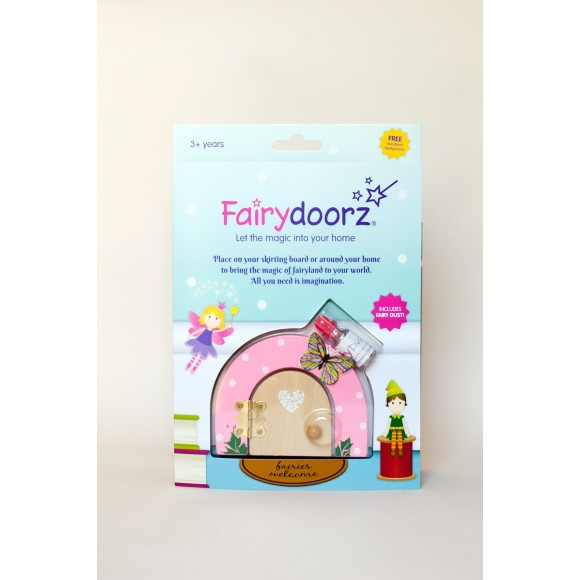 Gift set with fairy door and dust