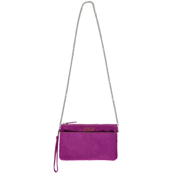 Luxe clutch fuchsia long view
