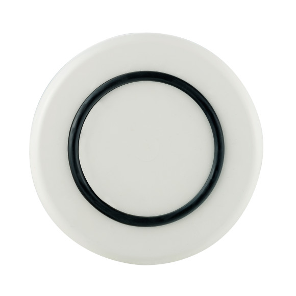 White with Black non-slip ring