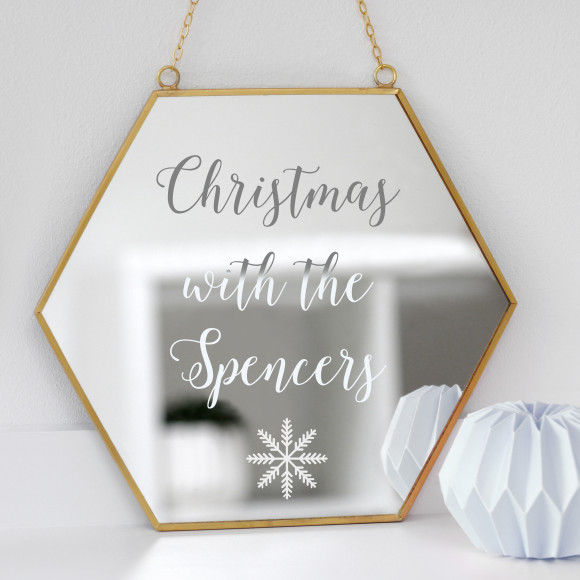 Personalised Christmas Hexagon Mirror