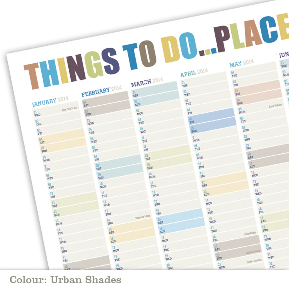 Wall Planner - Urban Shades