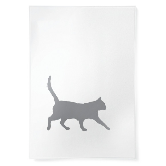 Cat linen tea towel