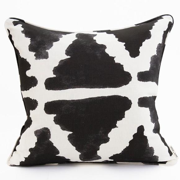 Inky Triangle cushion