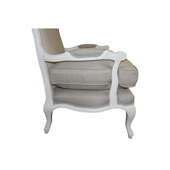 French Louis Style Armchair In Antique White Hardtofind