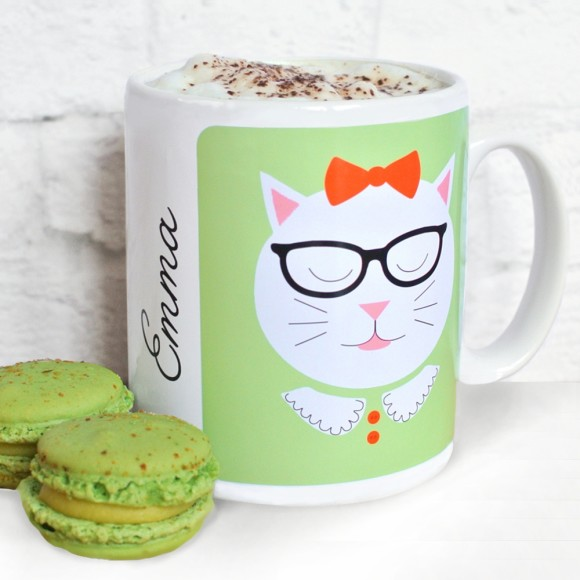 Personalised Frida character mug, glasses and bow