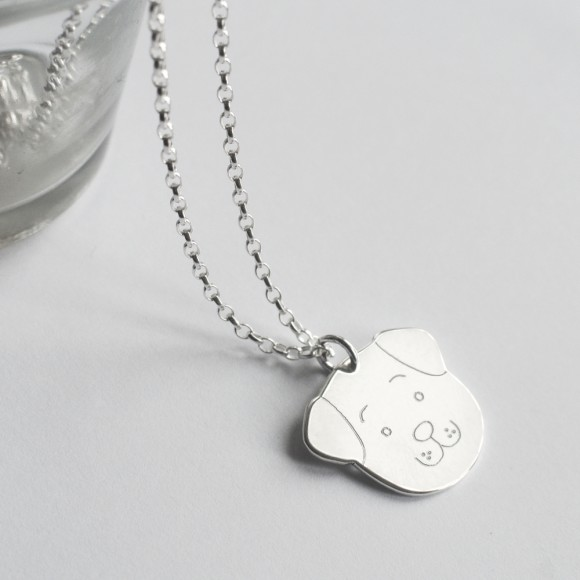 Fido Dog Face Necklace