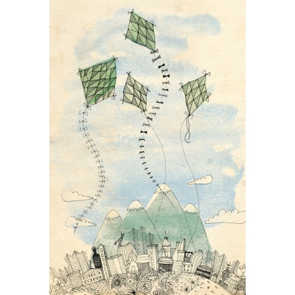 Kites print