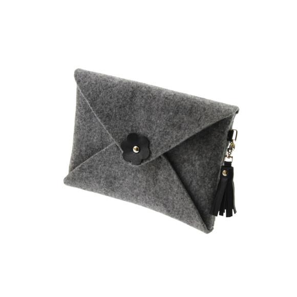 Felt clutch purse