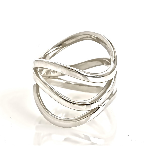 Illusion Silver Ring