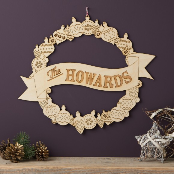 Personalised Christmas Wreath